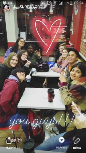 Late night hangout at KFC