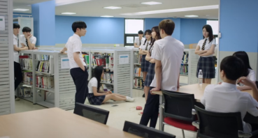 library confrontation