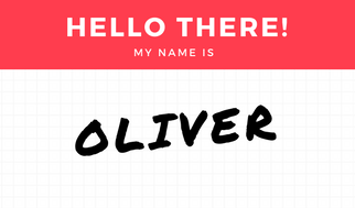 Yellow Black and White Grid Name Tag (2)