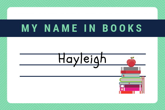 My Name in Books || 📚 Tag