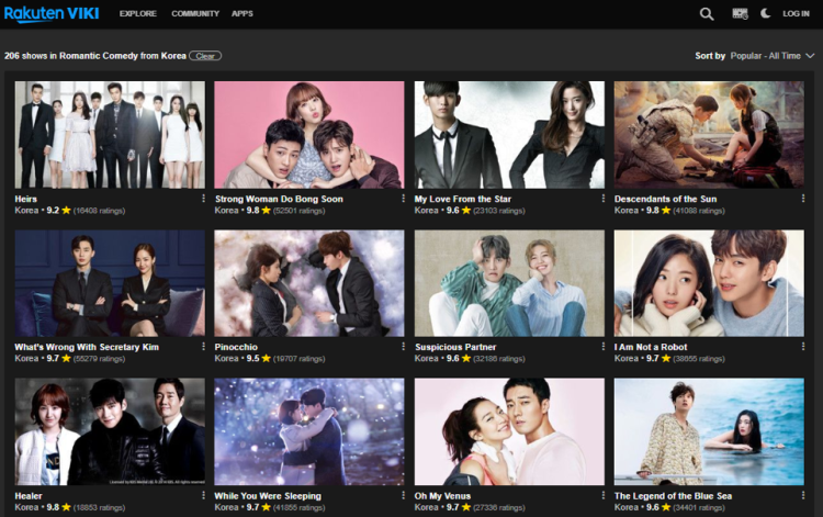 viki rom coms all time